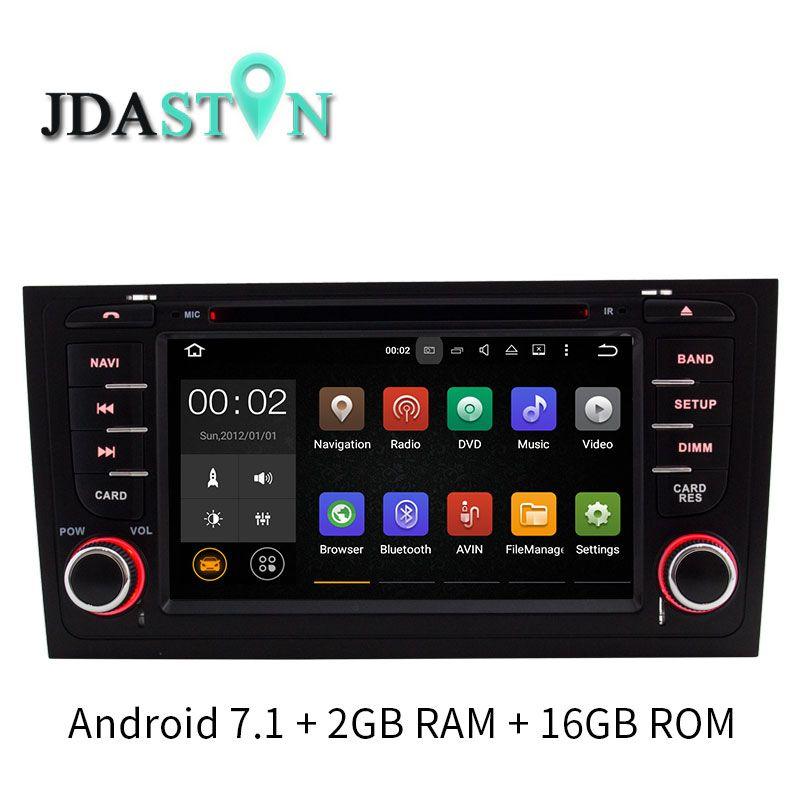 JDASTON Quad-Cores Android 7.1 Auto DVD Player Für AUDI A6 S6 RS6 1997-2004 WIFI Multimedia GPS Navigation Radio video-Player 2 gb