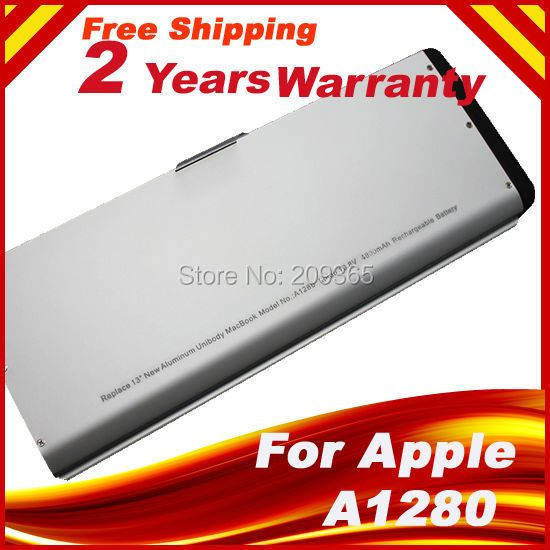 Aluminum Upgraded Version 6-cell Laptop Battery for Apple MacBook 13