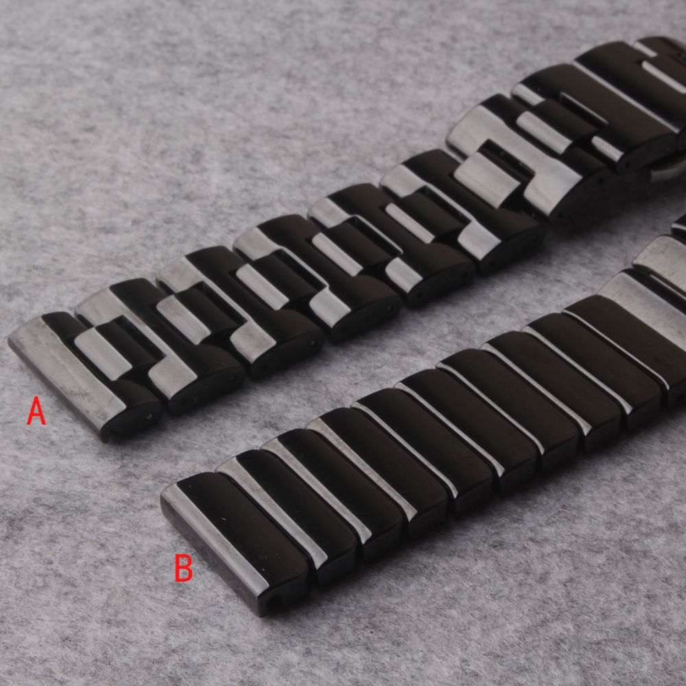 Watchbands 20MM 22MM Strap bracelets straight end butterfly buckle stainless steel for smart Gear S3 Frontier watches mens women