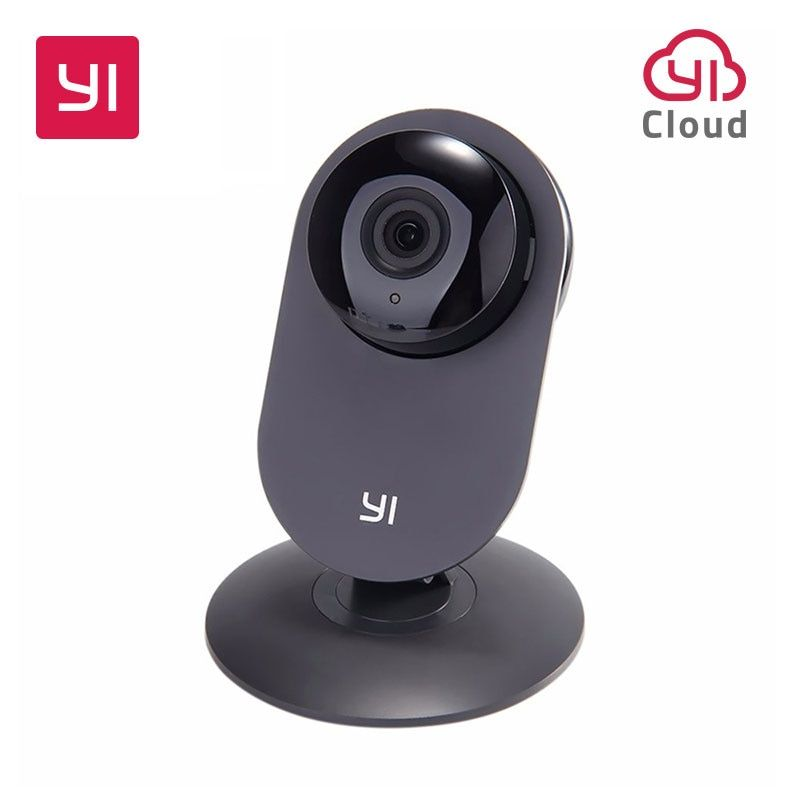 YI Home Camera 720P Black Night Vision Video Monitor IP/Wireless Network Surveillance Home Security Internation Version