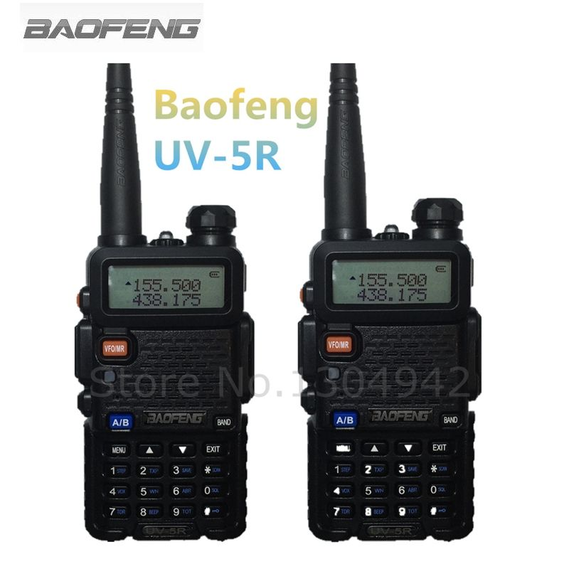 2-PCS BaoFeng UV-5R Talkie Walkie 10 km Portable Radio CB Radio UV5R Baofeng UV 5R Talkie Walkie De Poche Chasse Radio Transceiv