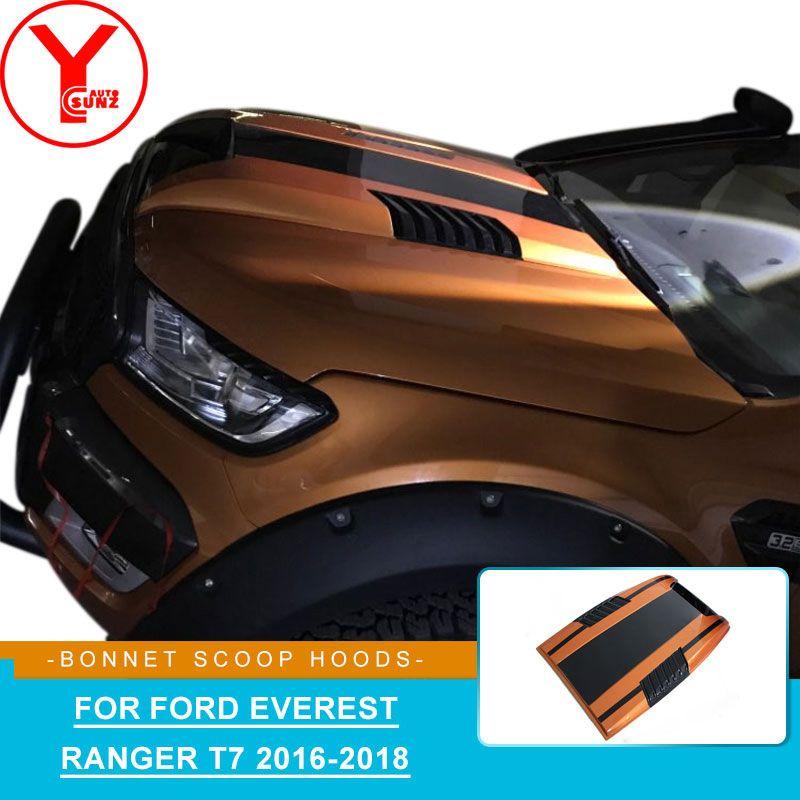 YCSUNZ orange schwarz motorhaube Kugeln Haube Abdeckung Hood scoop auto teile zubehör für Ford Everest Ranger T7 WILDTRAK 2016 2017 2018