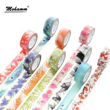 7 M Japonais Mignon kawaii Coloré Fleurs Feuille Masquage Washi Décoratif Ruban Adhésif Diy Scrapbooking Fournitures de Bureau de L'école
