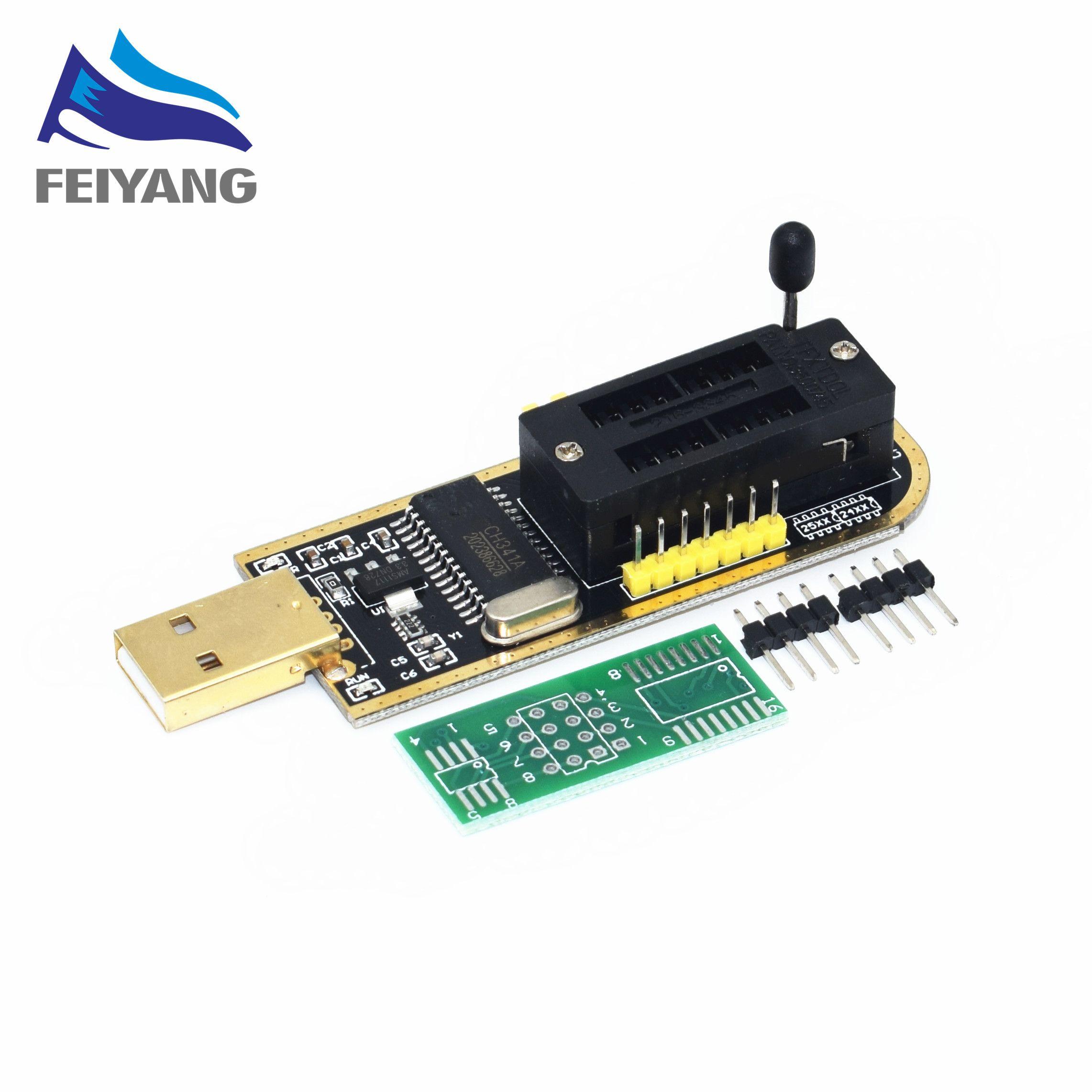 10 stücke Smart Elektronik CH340 CH340G CH341 CH341A 24 25 Serie EEPROM-Flash-BIOS-USB Programmierer mit Software & Fahrer