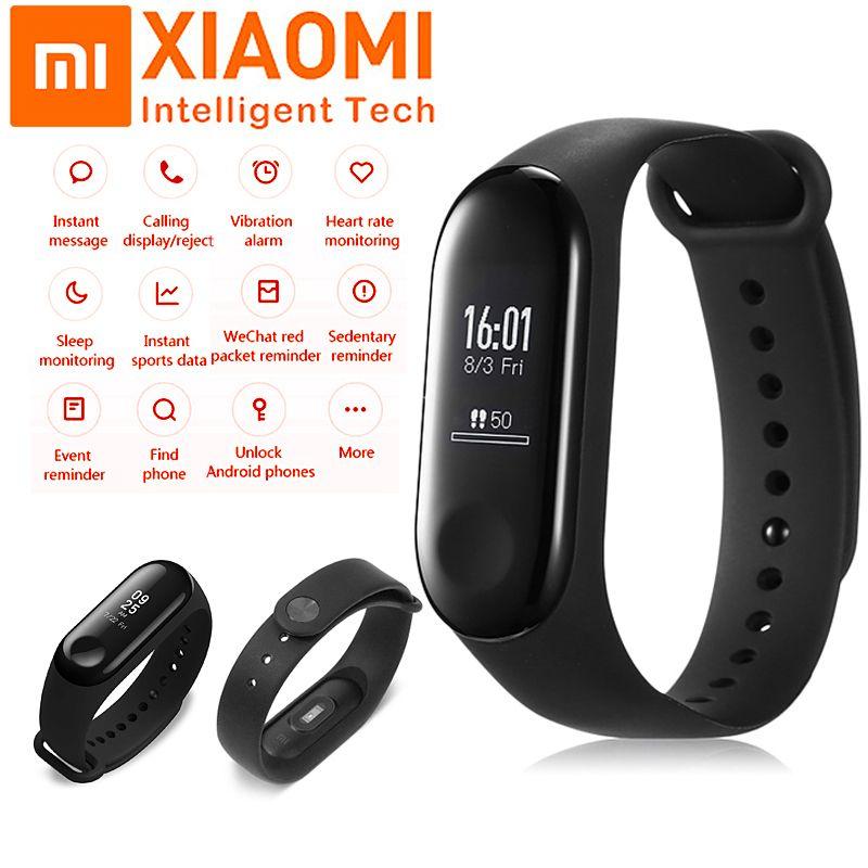 Xiaomi Original Mi Band 3 Fitness Tracker Bracelet Heart Rate Smart Wristband MiBand 3 OLED Touch Screen Smart Times Smartband