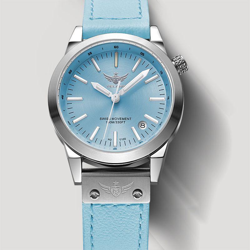 Neu Kommen YELANG V1010 Upgrade-Version T100 Tritium Blau Leuchtende Wasserdichte Dame Frauen Mode Lässig Quarzuhr Armbanduhr