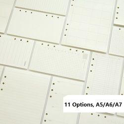 A5 A6 A7 hoja suelta Notebook recarga espiral planificador página interior Dairy semanal mensual plan para hacer línea dot GRID