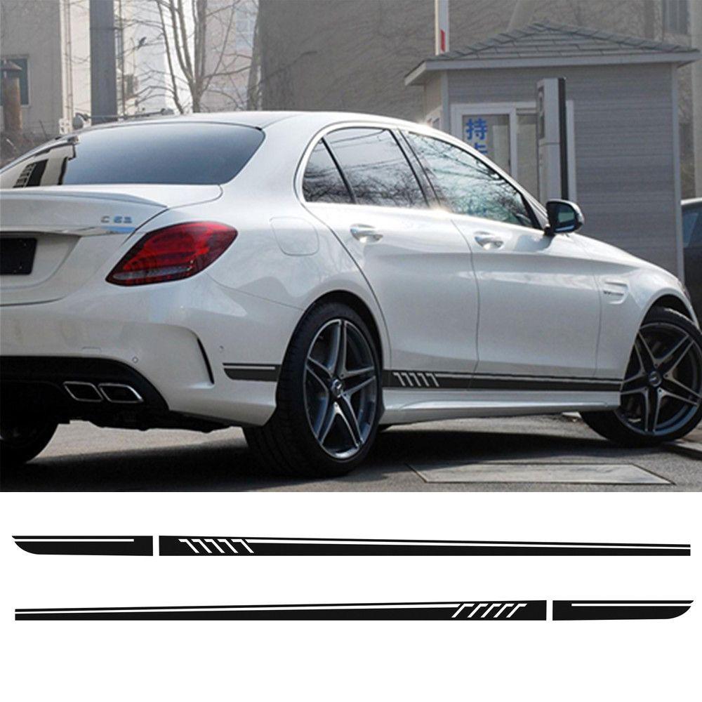 Édition 507 Sport Racing porte côté rayure jupe décalcomanie autocollants pour Mercedes Benz classe C W204 C180 C200 C300 C320 C350 C63 AMG