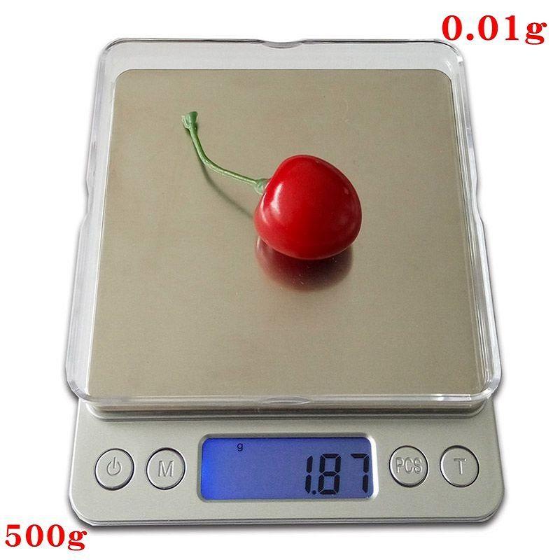 500g x 0.01g Numérique de Précision de Poche Gram Échelle Non-magnétique En Acier Inoxydable Plate-Forme Bijoux Balance Électronique Poids échelle