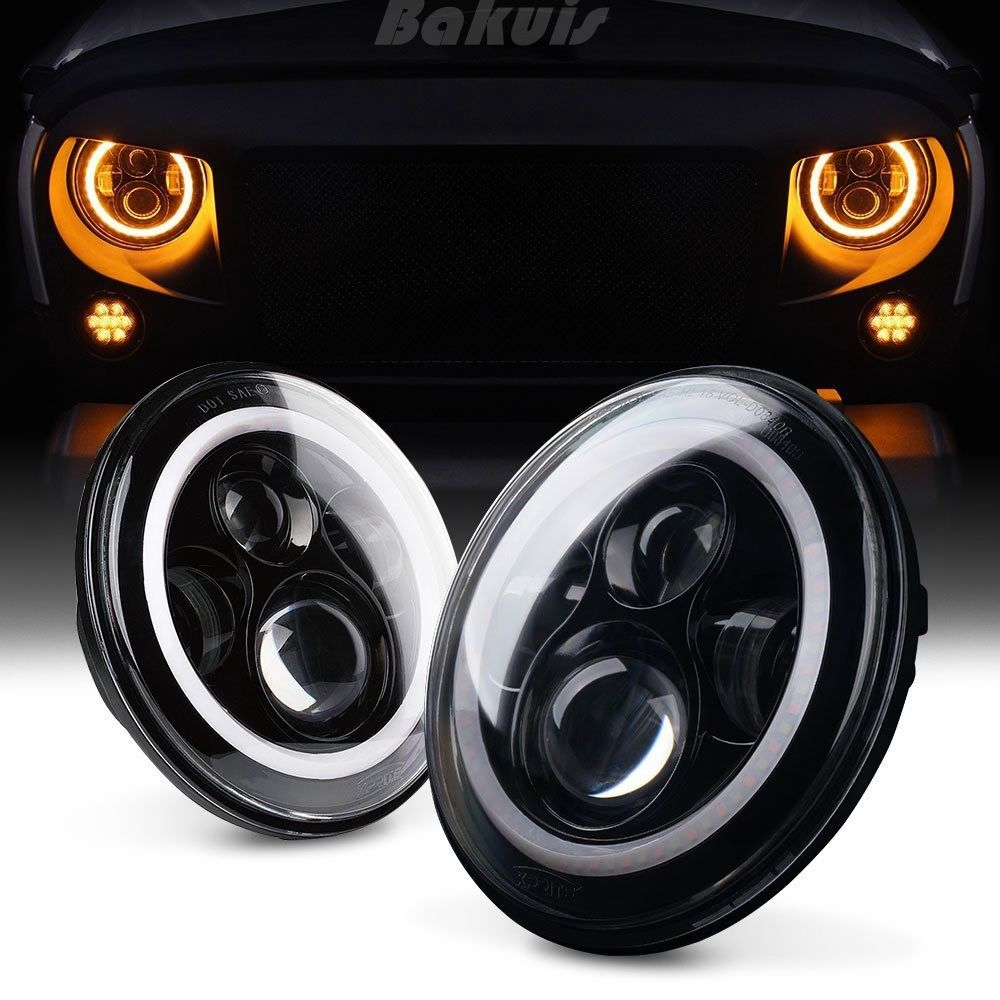 7 Inch Round LED Headlight 12v 24v Car accessories 45w LED Headlamp daymaker lights for Jeep Wrangler 07-15 years