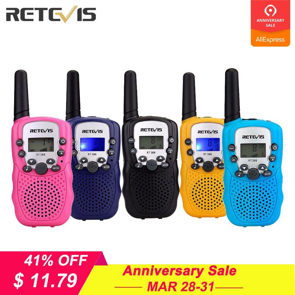 2 pièces mini talkie-walkie Enfants Radio Station Retevis RT388 0.5 W PMR PMR446 FRS UHF Radio portable Communicateur Cadeau A7027