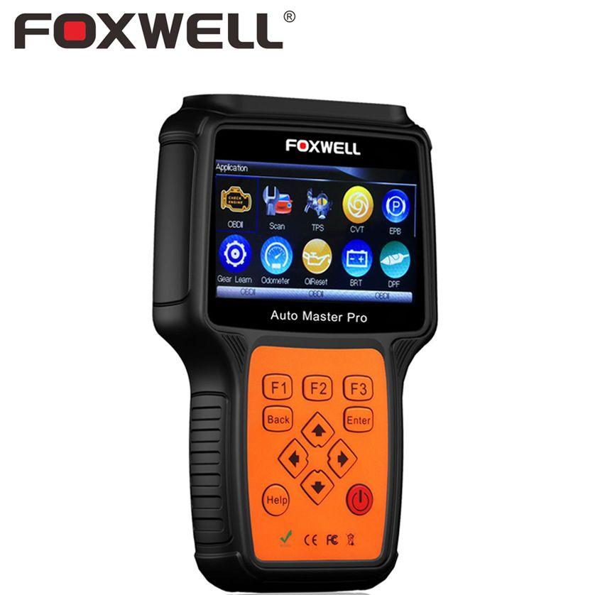 FOXWELL NT644 PRO Full System Professionelle Automotive OBD OBD2 Diagnosewerkzeug DPF Regeneration TPS Auto Airbag ABS Zurücksetzen Scanner