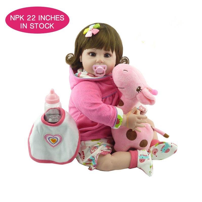 NPKDOLL 55 см boneca новорожденных реалистичные детские reborn menina Реалистичная reborn силиконовые куклы для девочек boneca для reborn игрушки