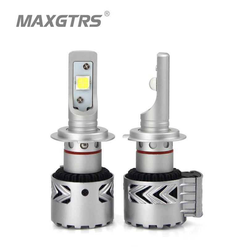 MAXGTRS Car Led Headlights Kit H7 H8/H11 HB3/9005 HB4/9006 9012 D1 D3 CREE Chip XHP70 Auto Front Headlamp Car Styling Lighting