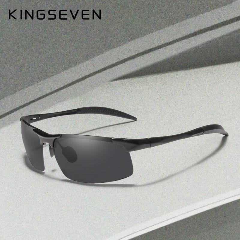 Kingseven marque hommes lunettes revêtement polarisé lunettes de soleil hommes lunettes de soleil femmes lunettes Vision nocturne conduite lunettes de soleil 7523