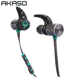AKASO IPX-5 Sport Wireless in ear Headphone Bluetooth Running Waterproof Earbuds Headset Earphones Microphone For Mobile Phone