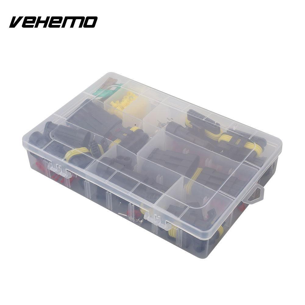 Vehemo Durable HID Plug Socket Adapter Multicolor Plug Adapter Socket 240PCS Xenon Lamp 1-6Pin HID Connector New