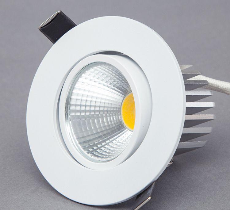 Dimmbare LED-Downlight 5 Watt 7 Watt 10 Watt Spot LED DownLights Dimmbar cob LED Spot Vertieft hinunter lichter für wohnzimmer 110 v 220 v