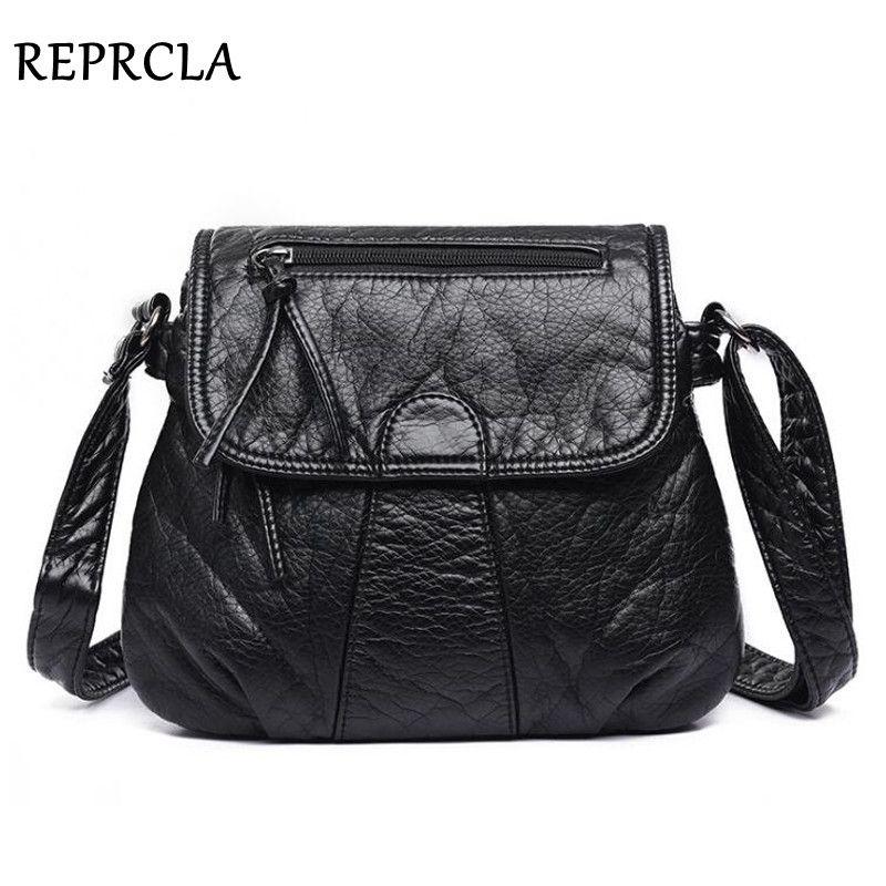 REPRCLA marque Designer femmes Messenger sacs bandoulière doux sac à bandoulière en cuir synthétique polyuréthane de haute qualité mode femmes sacs à main