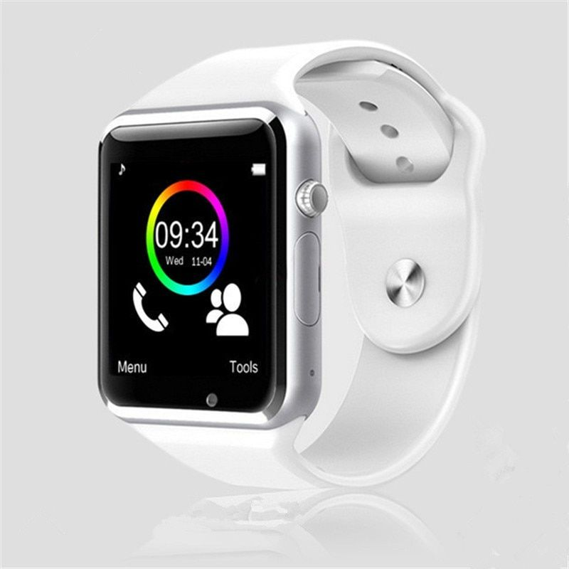 A1 WristWatch Bluetooth Smart Watch <font><b>Sport</b></font> Pedometer With SIM Camera Smartwatch For Android Smartphone Russia T15 good than DZ09
