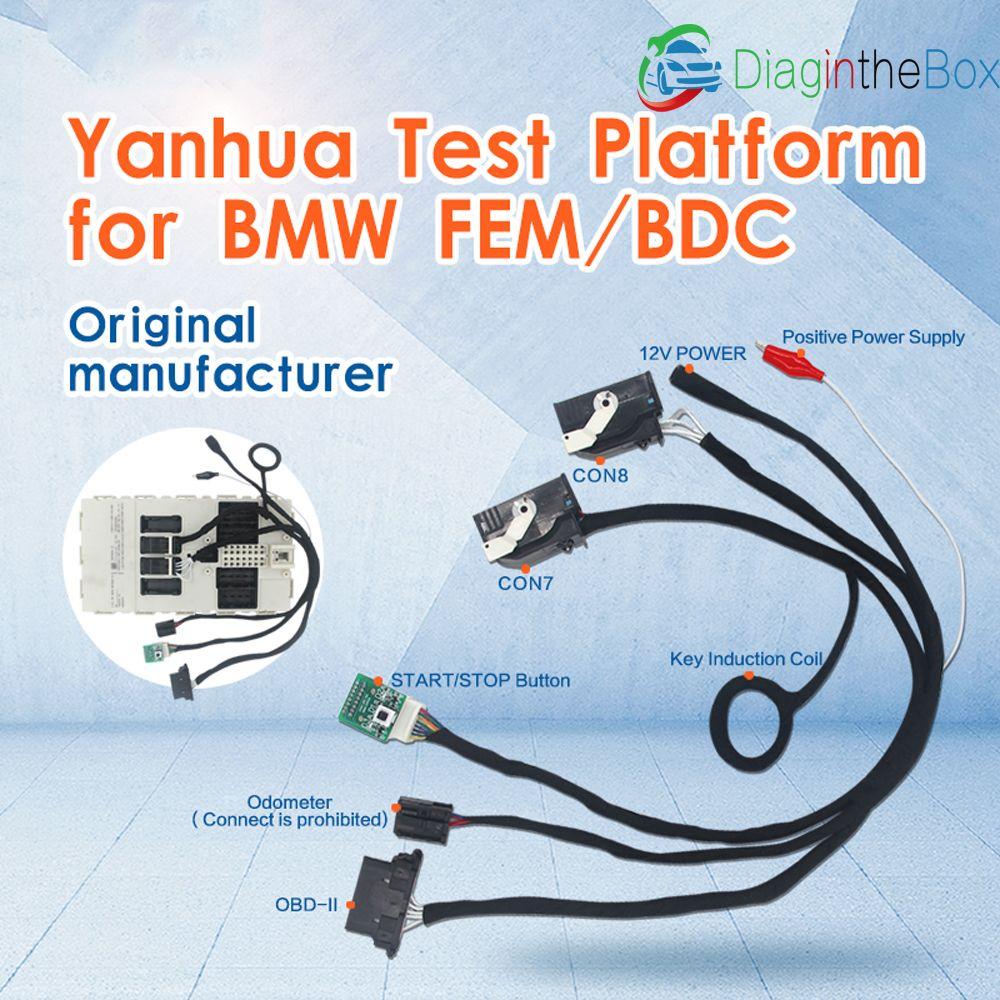 TECHYH Original Yanhua Test plattform Für BMW FEM/BDC IMMO schlüssel programmierer/laufleistung reset 2017 Neueste Daten Desktop test Plattform