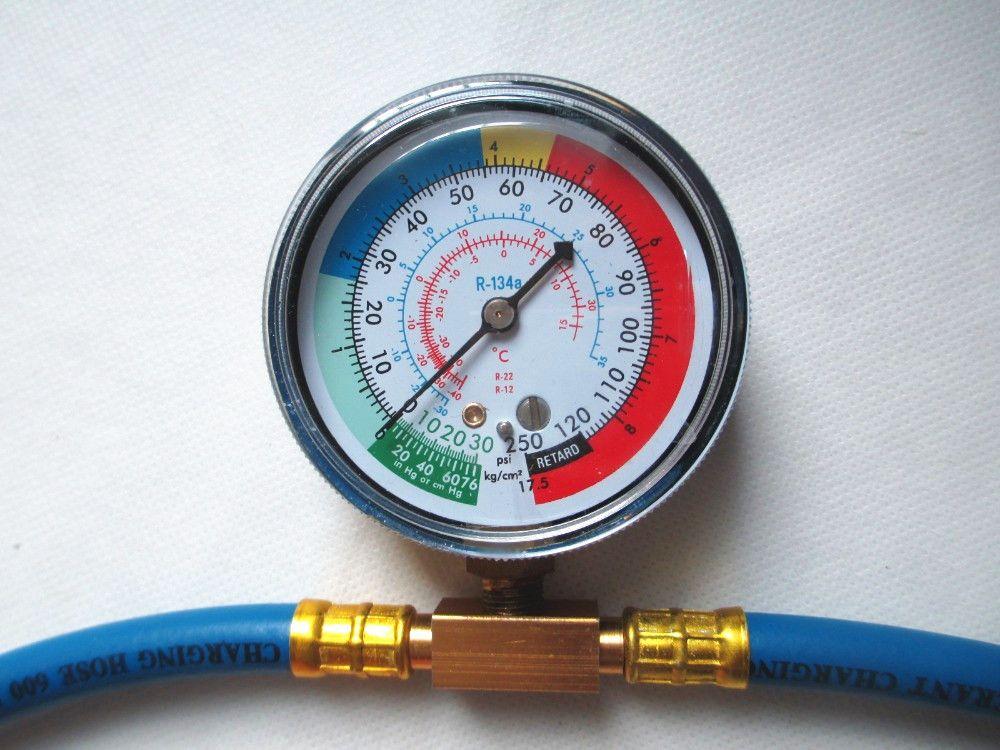 Fixmee R134A tuyau de Recharge réfrigérant avec tuyau de charge jauge de mesure PSI KPA