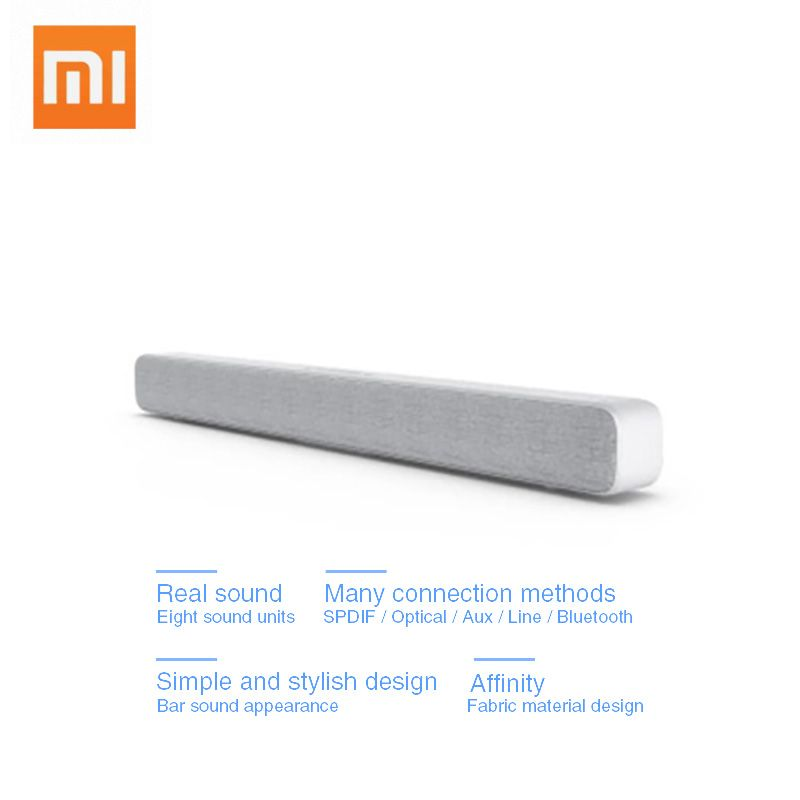 Original Xiaomi Bluetooth Wireless TV Sound Bar Speaker Stylish Fabric Support Bluetooth Playback Optical SPDIF AUX IN For Home