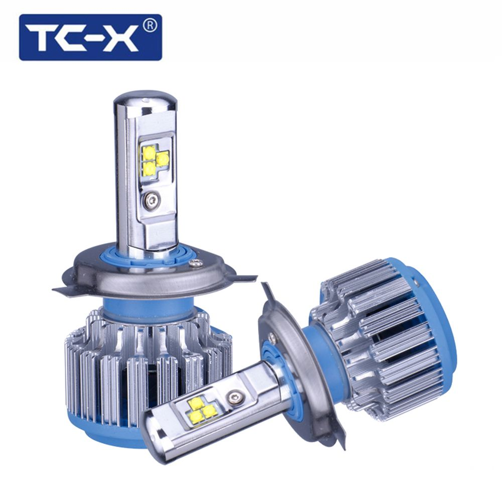 TC-X 2 Bulbs/Set LED Car Light H4 Hi lo beam led headlight bulbs H7 H1 H11 9006 9005 H27/880 Auto Bulb <font><b>Headlamp</b></font> 6000K Light
