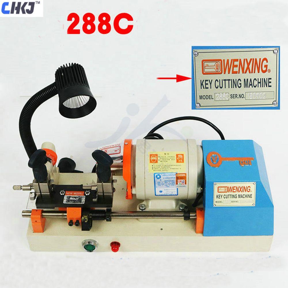 CHKJ 100% Original Wenxing 288-C Automatische Horizontale Schlüssel Schneiden Maschine 220 V 120 W Advanced Single-Kopf Schlüssel Kopierer