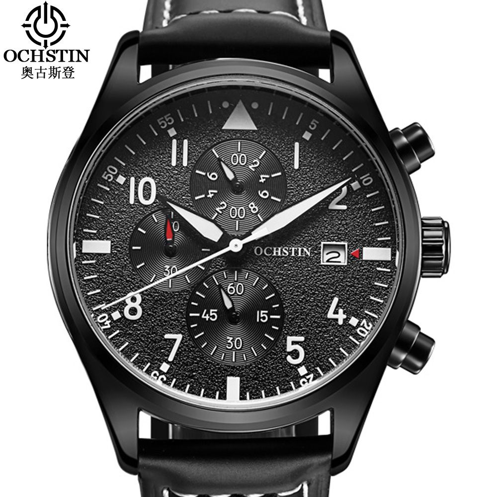 Men Watch Relogio Masculino <font><b>OCHSTIN</b></font> Watch ChronographTop Brand Luxury Sport Watches Men Clock Quartz Wrist Watch Male
