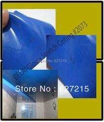 Внутренний кровельный материал м #2073 3,2/1,8/1,5 м ширина темно-синий глянцевый стрейч-потолок пленка --- небольшой заказ