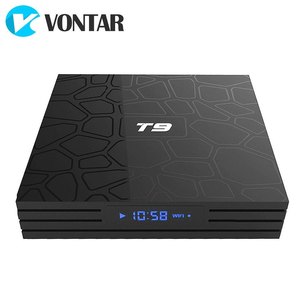2018 VONTAR T9 TV Box Android 8.1 4GB 32GB 64GB Smart TV prefix Rockchip RK3328 1080P H.265 4K Google Play Netflix media player