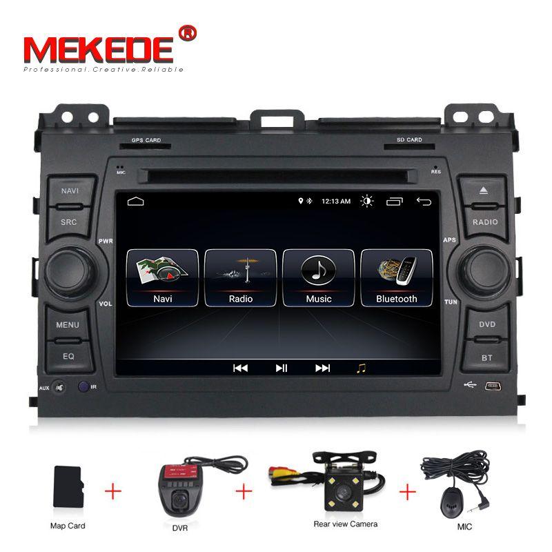 MEKEDE freies verschiffen android 8.1 Auto DVD Player für Toyota Prado 120 Land Cruiser 2004-2009 Auto Radio GPS Navigation BT karte