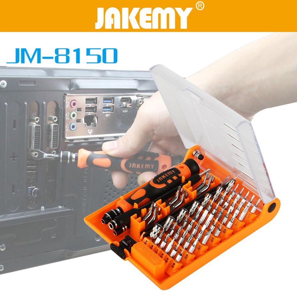JAKEMY JM-8150 ensemble de tournevis pour ordinateur portable kit d'outils à main de réparation professionnelle pour téléphone portable ordinateur modèle électronique bricolage réparation