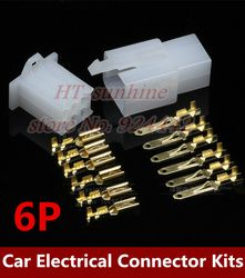Free shipping via DHL 5000Sets/LOT 6P 2.8mm terminal Automotive motor bicycle Motorcycle Connector auto car terminal connector