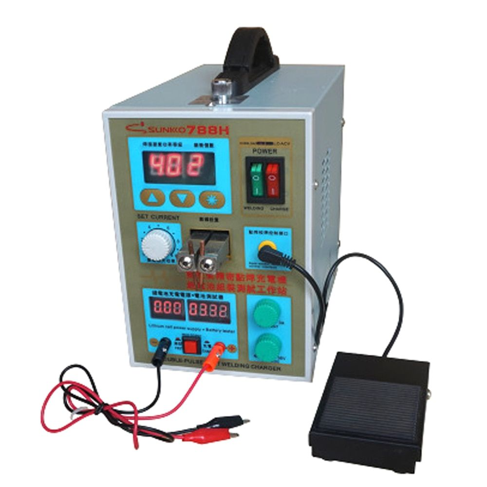 SUNKKO 788H spot welder machine 18650 lithium battery spot welding DC charging function Pulse LED lighting spot welders