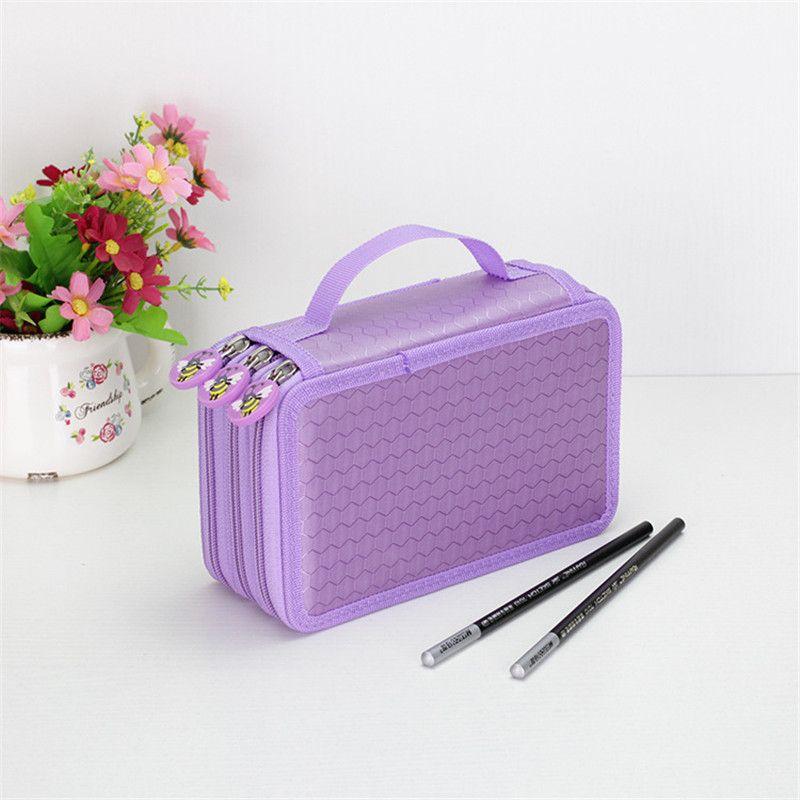 Cute Kawaii School Pencil Case 3 Layers 48 Color Fit 52 Holes Penal Pencilcase Large Multifunction Boys Girls Pen Bag Box Pouch