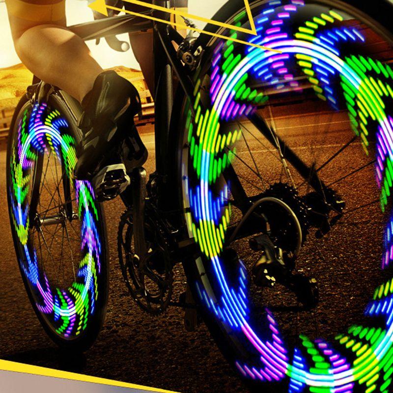 LEADBIKE Wheel Spokes Bike Light Bicycle Accessories Fietslamp Led Velo 28 Patterns Flashlight For Cycling Fahrradlicht Luz Bici