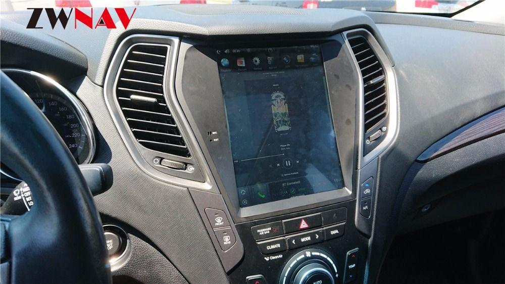 ZWNVA Tesla style Screen Newest Android 6.0 64+2GB Car GPS Navigation Radio For Hyundai Santa Fe ix45 2013-2018
