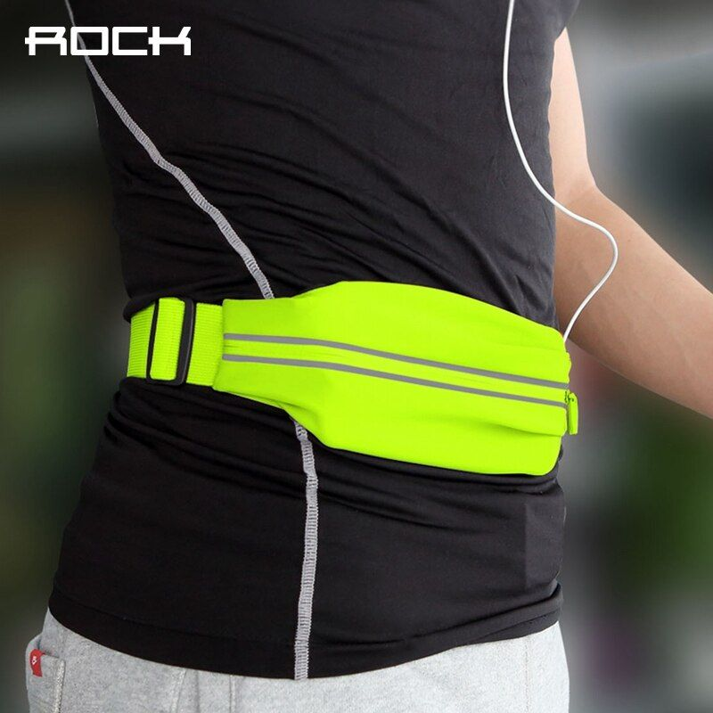 ROCK Waterproof Sports Waist Bag for running fitness cycling, Universal Professional Slim Armband for 4-6 inch Phone devices