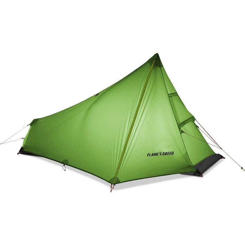 FLAME'S CREE Einzelne Person Zelt Oudoor Ultraleicht Camping Zelt 3 Saison Professionelle 15D Nylon Silicon Beschichtung Kolbenstangenlosen Zelt 740g