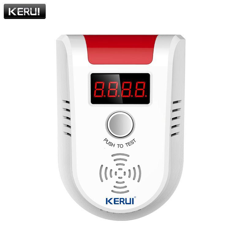 KERUI Nouveau Sans Fil Haute Sensibilité Voix Détecteur de Gaz LED affichage GPL Gaz de Pétrole Liquéfié Capteur Empoisonnement Avertissement pour Cuisine