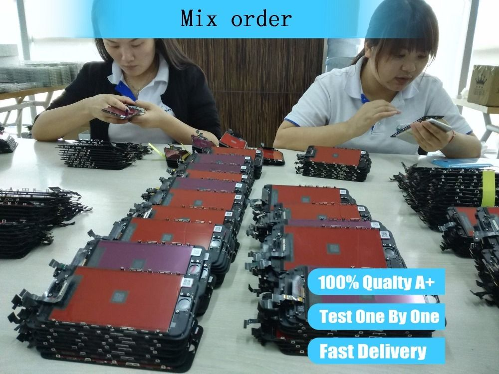 mix order of lcd assembly screen replacement display touch screen Digitizer for iphone lcd