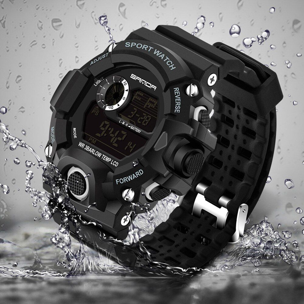 <font><b>2018</b></font> Military Electronic Wrist Watch Sport Top Brand Sanda Digital Wristwatches Men G Style Shock Watch Waterproof Shockproof