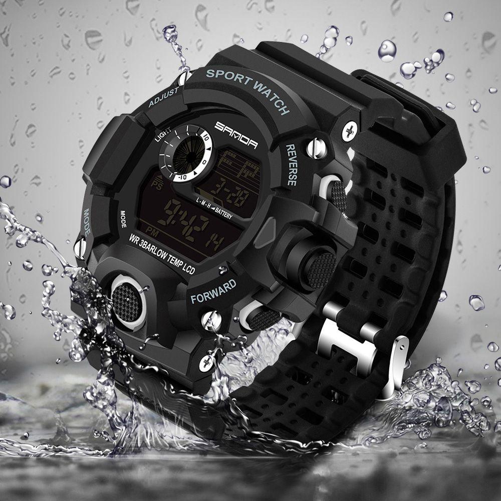 2018 montre-bracelet électronique militaire Sport Top marque Sanda montres numériques hommes G Style montre choc étanche antichoc