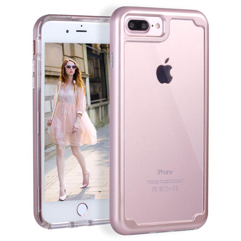 Для iPhone 6 6 S плюс 7 Plus ударопрочность Прозрачный Ультра тонкий чехол защиты Телефонные Чехлы для iPhone 7