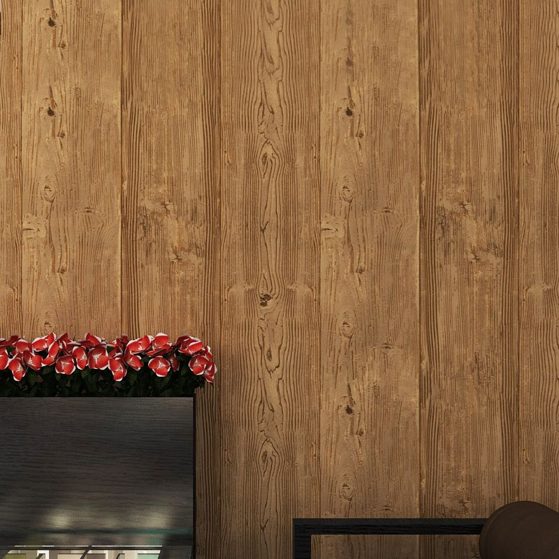 Super Thick 3D Wood Texture Embossed Waterproof PVC Wall Paper Roll Living Room Desktop Vintage Wallpaper Mural Papel De Parede