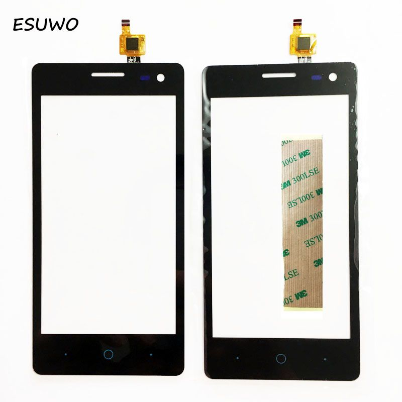 ESUWO 4.5'' Sensor Touchscreen For ZTE Blade GF3 Touch Digitizer Screen Front Glass Panel Outer Lens +3m sticker