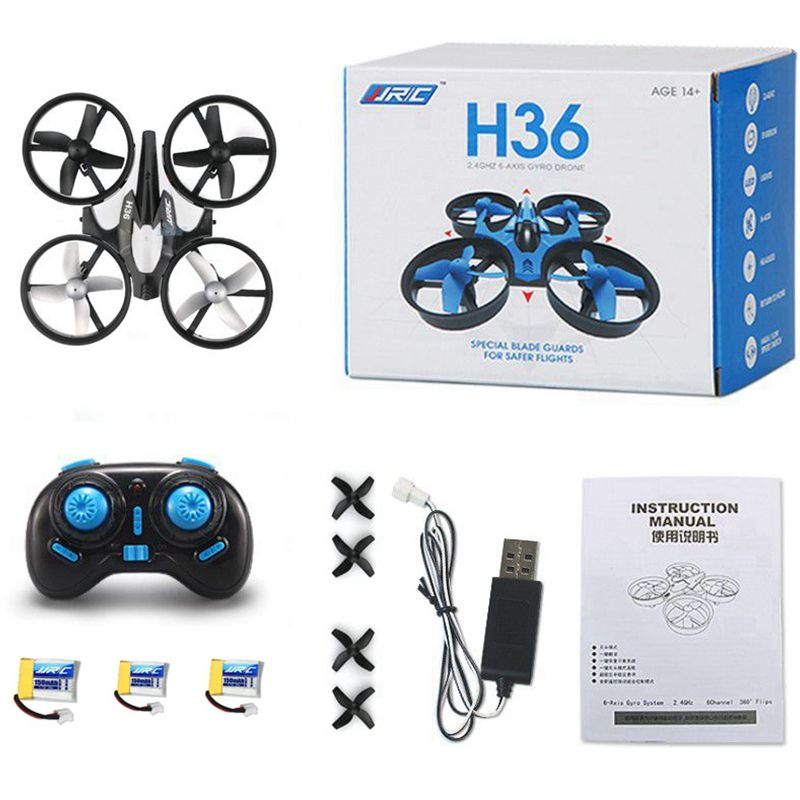3 Batteries Mini Drone Rc Quadcopter Fly Helicopter <font><b>Blade</b></font> Inductrix Drons Quadrocopter Toys For Children Jjrc H36 Dron Copter