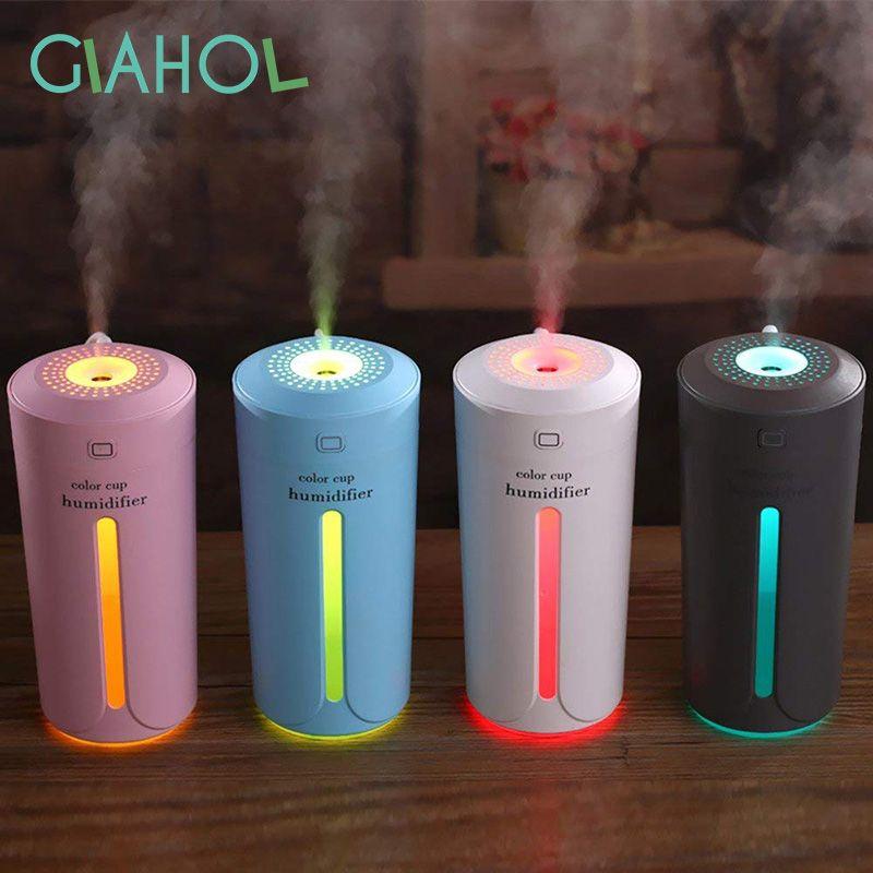 230 ml Kreative Luftbefeuchter USB Ultraschall-luftbefeuchter Mini Aroma Diffuser Air Purifier mit Led-leuchten Humidificador Farbe Tasse